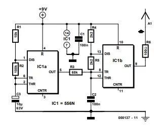 Wire Tracer (Transmitter) Schematic Diagram