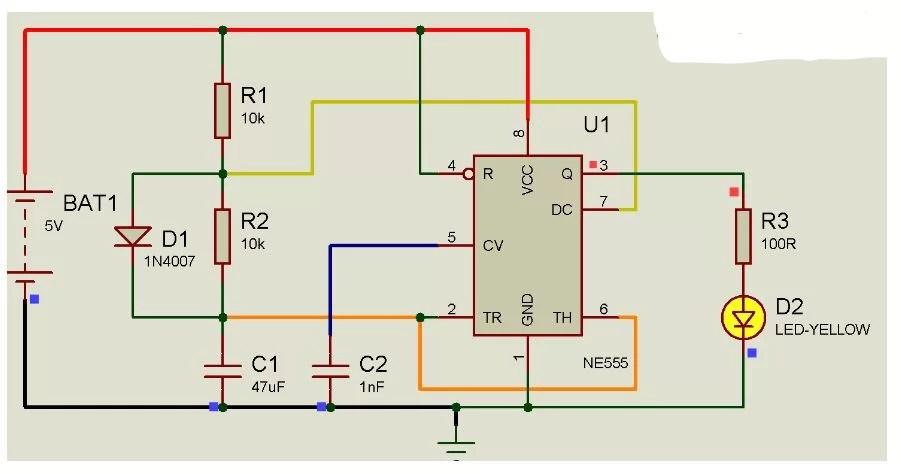 digital clock circuit using 555 timer diagram 1999 ford windstar fuse alarm 4026 logic gates schematic