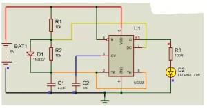 Digital alarm clock using 4026 logic gates Schematic Circuit Diagram