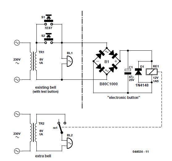Doorbell Cascade Schematic Circuit Diagram
