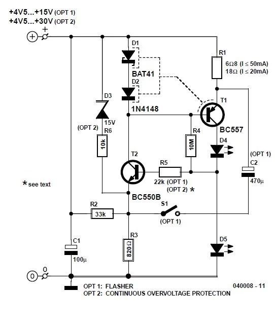 Low-Drop Constant Current Source Schematic Circuit Diagram