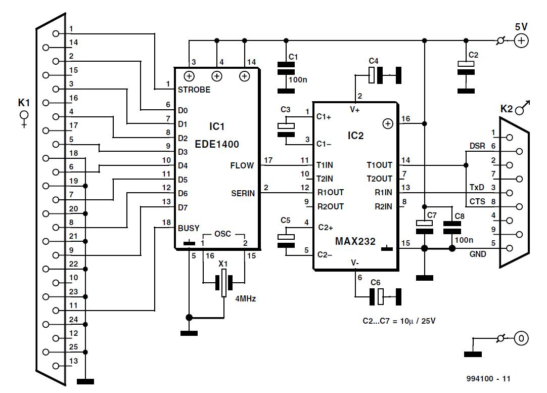 Serial-to-Parallel Converter Schematic Circuit Diagram