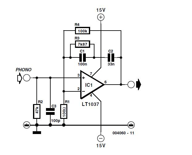Simple MD Cartridge Preamplifier Schematic Circuit Diagram