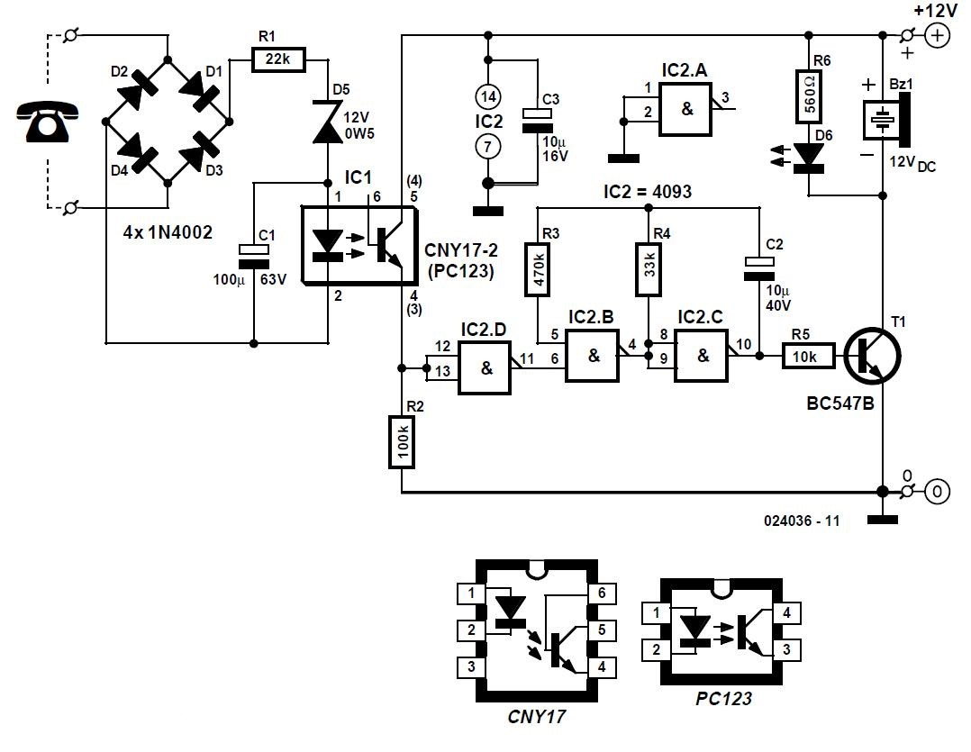 Telephone Watchdog Schematic Circuit Diagram