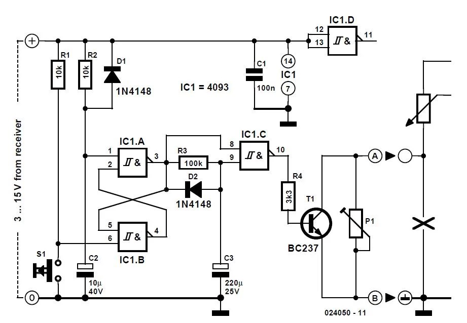 Timer for Very Long Periods Schematic Circuit Diagram