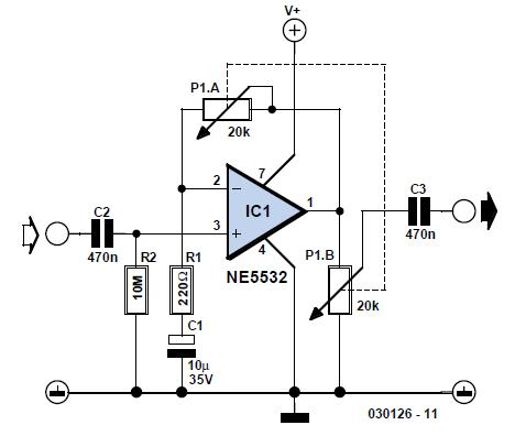 LA4440 IC Amplifier Circuit Diagram