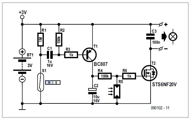 Automatic Bicycle Light Schematic Circuit Diagram