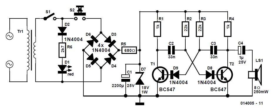 blown fuse indicator circuit schematic