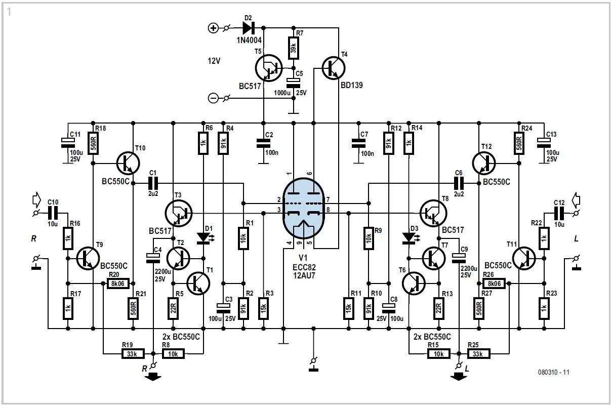 Improved Hybrid HeadPhone Amplifier Schematic Circuit Diagram