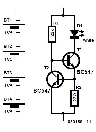 LED Light Pen Schematic Circuit Diagram