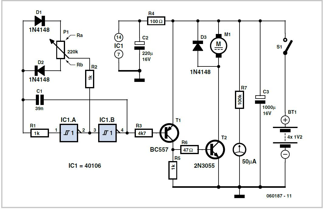 PWM Control for Permanent Magnet Motors Schematic Circuit