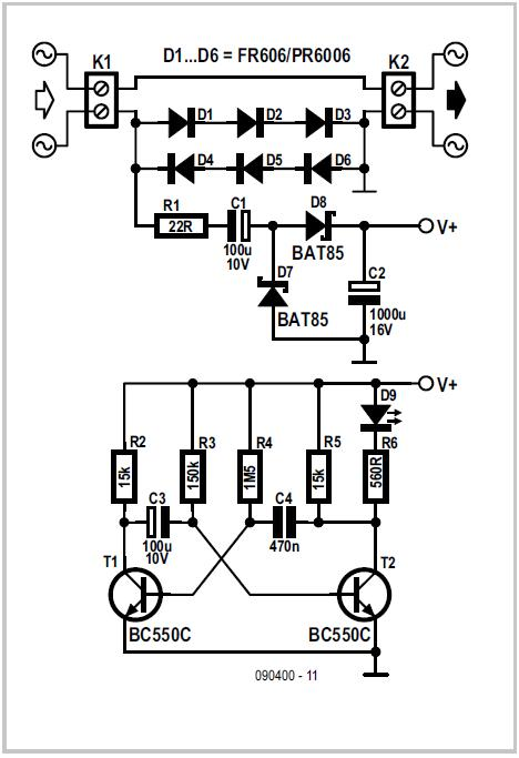 Power On Indicator Schematic Circuit Diagram