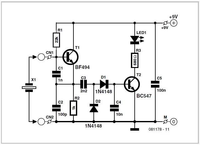 Quartz Crystal Tester Schematic Circuit Diagram