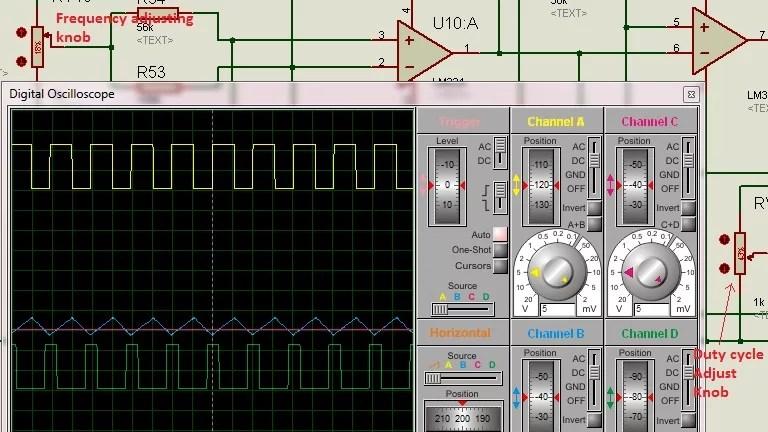 Square Oscillator Using Comparator The Circuit Schematic Diagram And