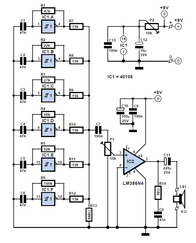 mains supply failure alarm circuit schematic