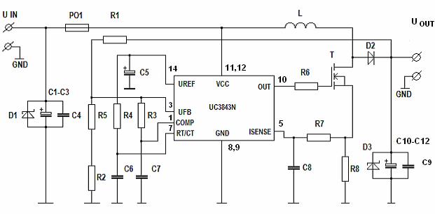 12V 19V DC TO DC CONVERTER FOR LAPTOP UC3843D SCHEMATIC