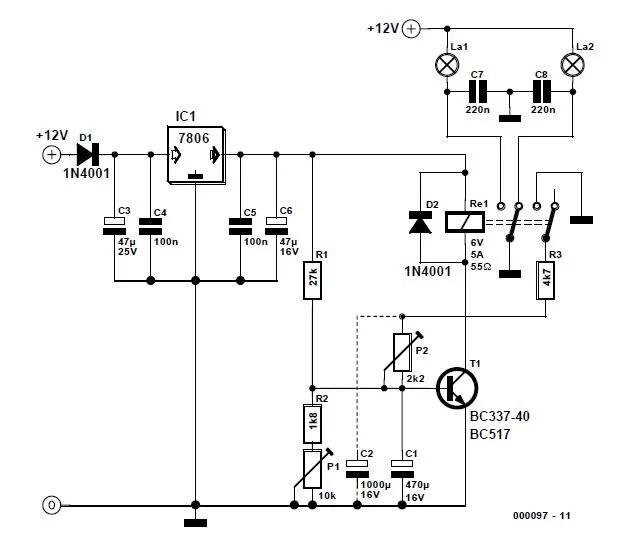 Alternating Blinker Schematic Circuit Diagram