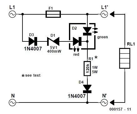 Fuse Failure Indicator Schematic Circuit Diagram
