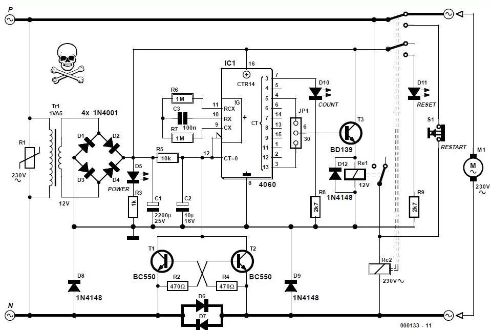 Pump Protector Schematic Circuit Diagram
