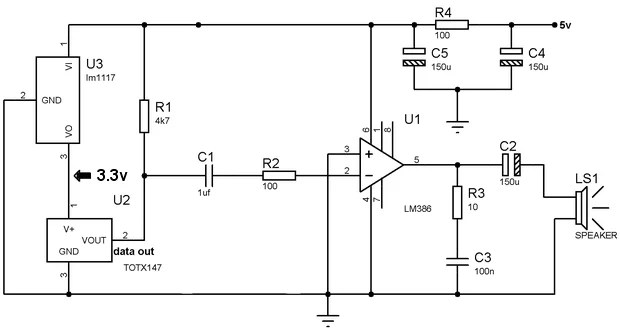 AUDIO TRANSMISSION WITH FIBER OPTIC CABLE SCHEMATIC