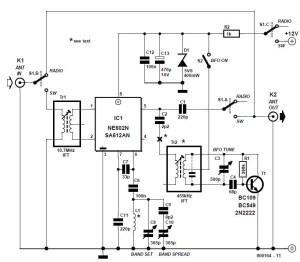 SW Converter for Digital AM Car Radio Schematic Circuit