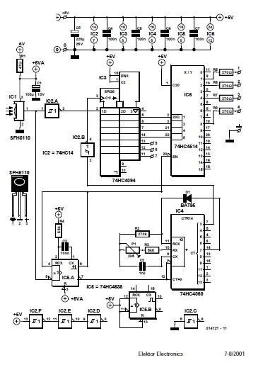 uv torch light circuit diagram