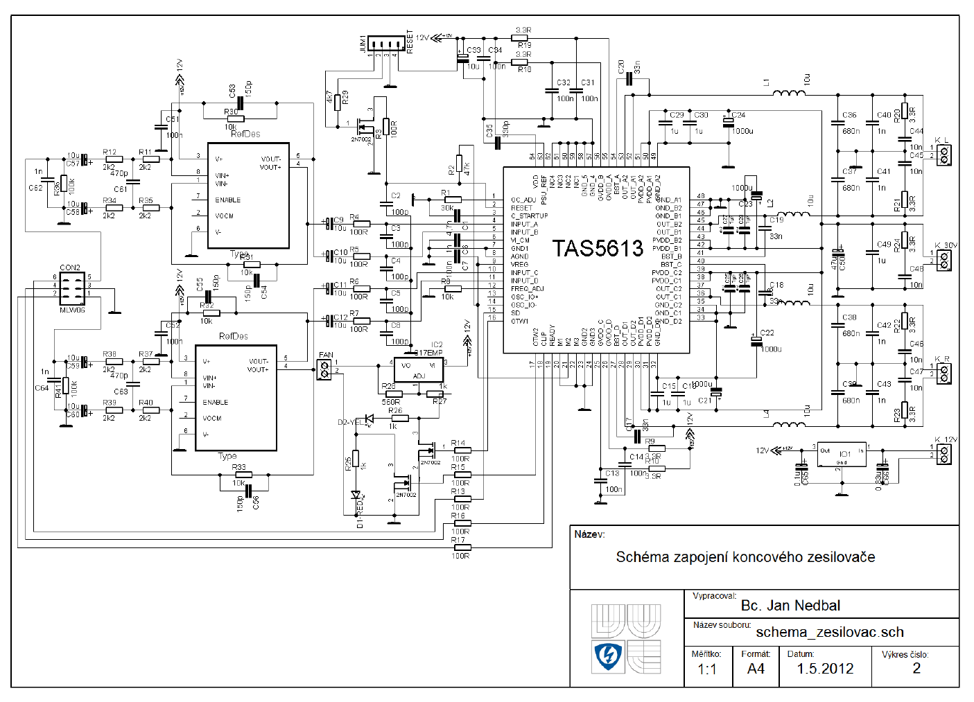 300w Class D Amplifier Circuit Smps Digital Preamp