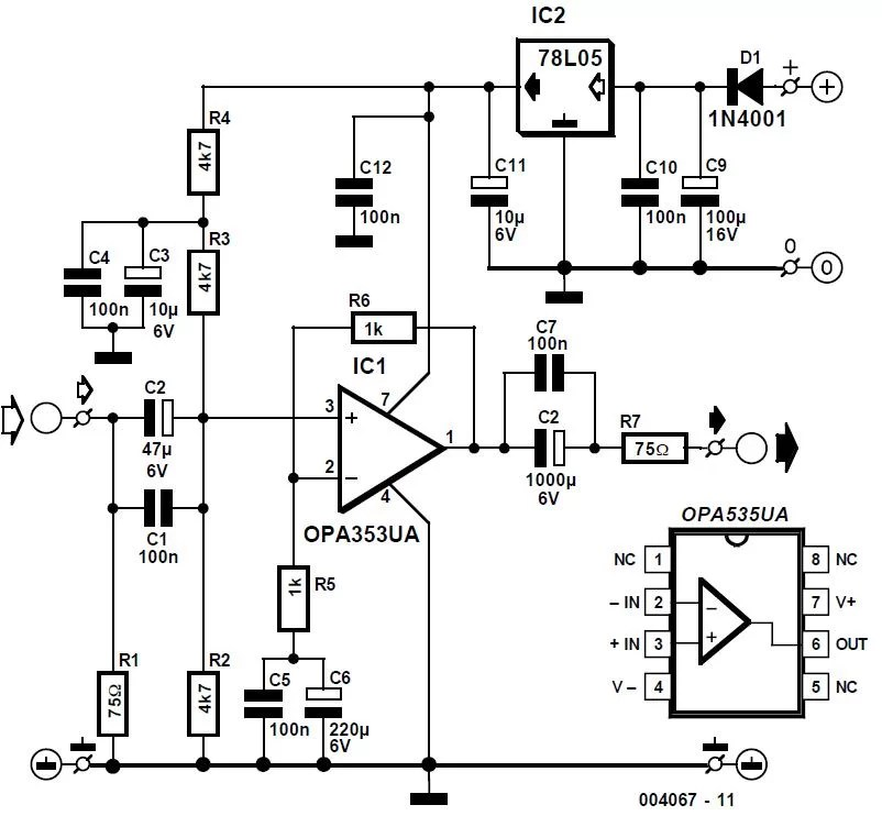 Keyboard/Mouse Switch Unit Schematic Circuit Diagram