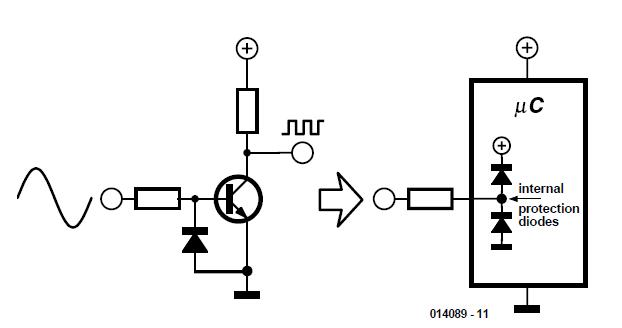 Zero-Crossing Detector for Microcontrollers Schematic