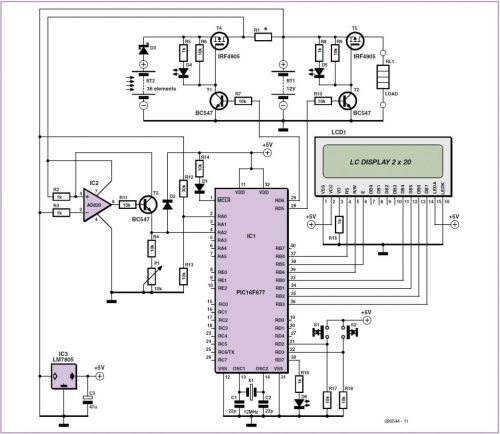 small resolution of solar cell battery charger monitor schematic circuit diagram