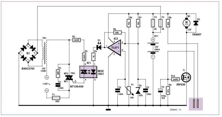 AC Power Indicator Schematic Circuit Diagram