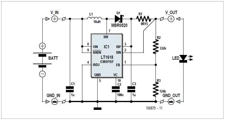 DC/DC Converter using LT1376 Schematic Circuit Diagram