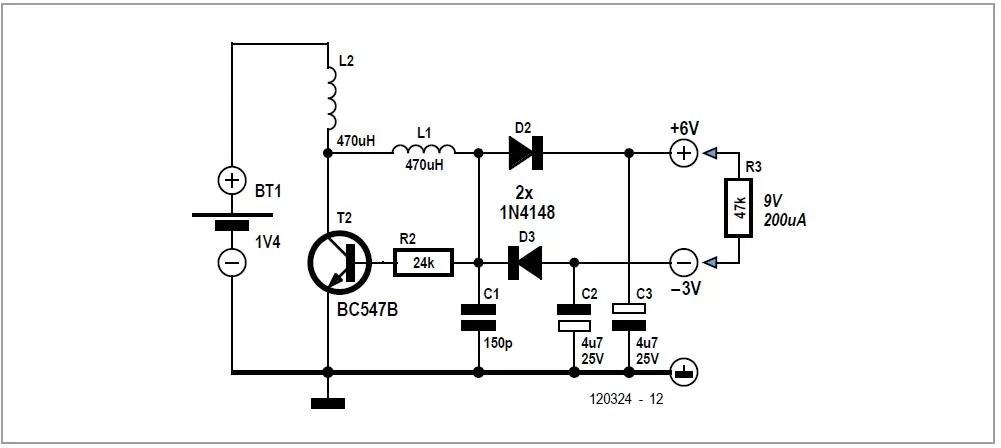 One-transistor Voltage Converter Schematic Circuit Diagram