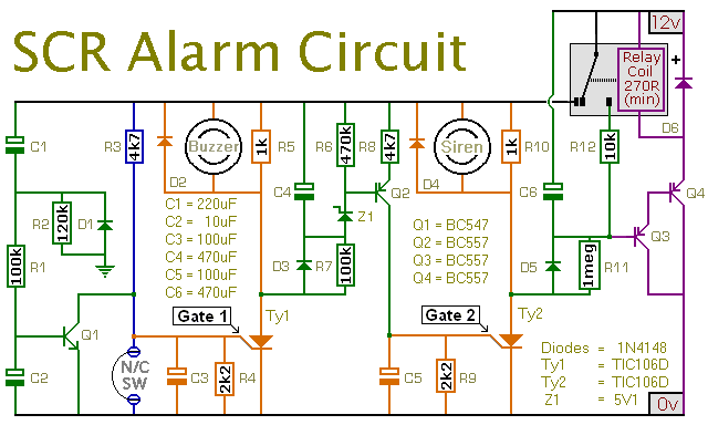 How To Build An Expandable SCR Based Burglar Alarm