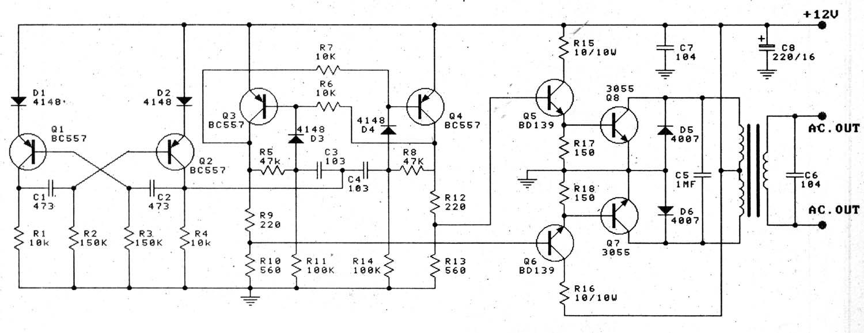 home power saver circuit diagram ford jubilee wiring ingram: 12v to 220v 100w transistor inverter