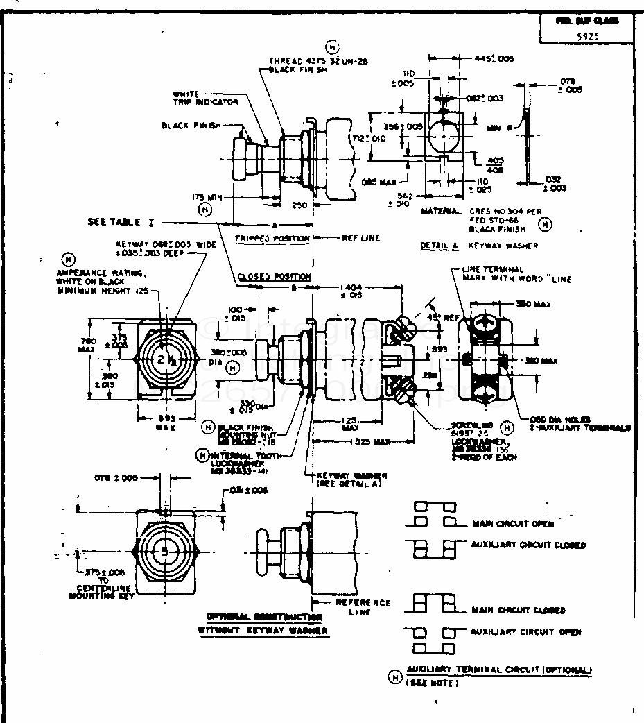 MS26574 Circuit Breaker, Trip-Free, Push-Pull, 1/2 Thru 20