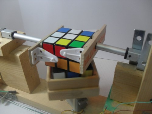 small resolution of cube solver in action