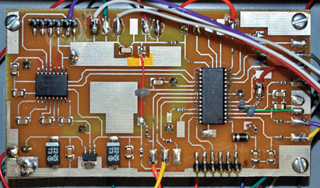 The remote data unit's board assembly is shown.