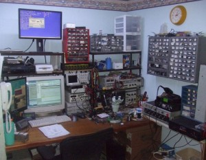 Steven Hendrix's basement workspace