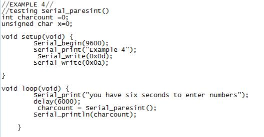 Serial parse INT
