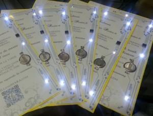EE-themed wedding invitations