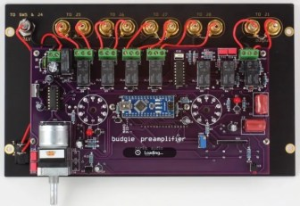 All the circuits are on one custom PCB along with the power supply and microcontroller (Source: S. Parks)