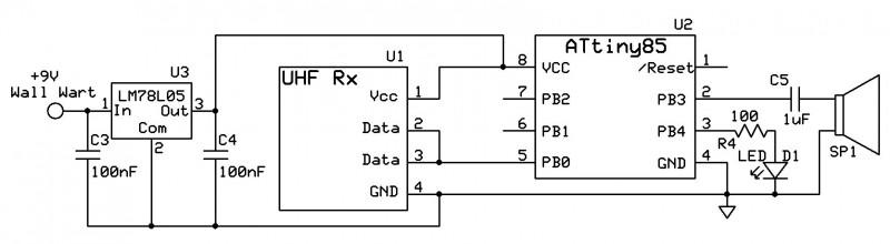 Figure 2: Simple Receiver Schematic