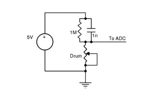 Figure 4 Circuit diagram for a single drum