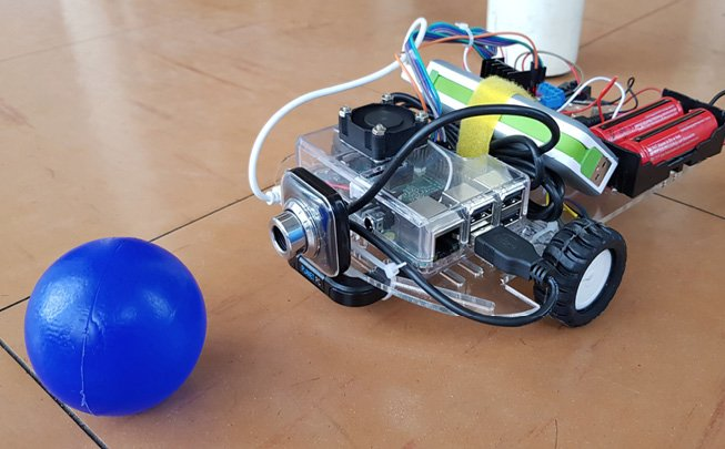 Figure 6 Robotic car controlled remotely