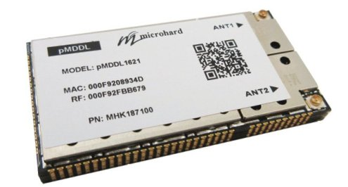 Figure 6 The pMDDL1621 module is a tri-frequency MIMO(2X2) Digital Data Link. The miniature, lightweight and robust design allows the pMDDL1621 to be an ideal candidate for size-sensitive applications like drones.