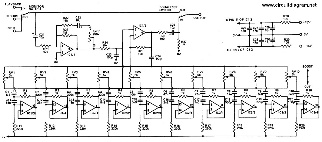 20 Band Graphic    Equalizer     Schematic Design