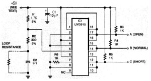 Safer Security System Alarm circuit diagram