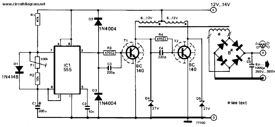 inverter 12v dc to 240v dc schematic design