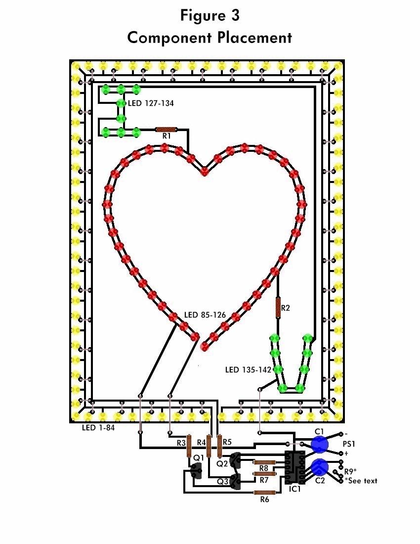 LED Flashing Heart  Schematic Design